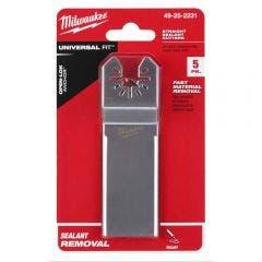 MILWAUKEE 5 piece OPEN-LOK Wide Sealant Cutting Blade 49252231