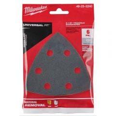 MILWAUKEE 6 piece OPEN-LOK 240 Grit Sand Paper 49252240