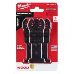 MILWAUKEE 3 piece 35mm OPEN-LOK High Carbon Steel Wood Blade 49251103