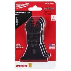 MILWAUKEE 3 piece 63.5mm OPEN-LOK High Carbon Steel Wood Blade 49251113