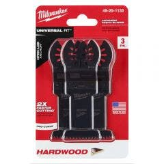 MILWAUKEE 3 piece 35mm OPEN-LOK Japanese Tooth Hardwood Blade 49251133