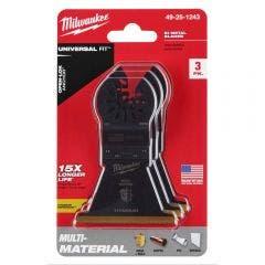 MILWAUKEE 3 piece 63.5mm OPEN-LOK Titanium Enhanced Bi-Metal Multi-Material Blade 49251243