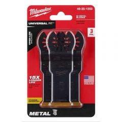 MILWAUKEE 3 piece 28mm OPEN-LOK Titanium Enhanced Bi-Metal Metal Blade 49251253
