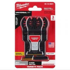 MILWAUKEE 3 piece OPEN-LOK All Purpose Multi Tool Blade Variety Pack Blades 49109001
