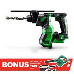 HiKOKI 18V Brushless SDS Plus Rotary Hammer Skin DH18DPA(H2Z)