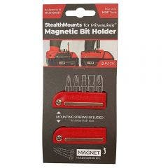 STEALTHMOUNTS Bit Holder for Milwaukee Red M18 - 2 Pack BH-MW18-RED-2