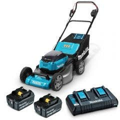 MAKITA 36V (18VX2) Brushless 2 x 6.0Ah 534mm Lawn Mower Kit DLM535PG2