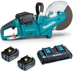 MAKITA 18V Brushless 2 x 6.0Ah Power Cut Saw Kit DCE090PG2