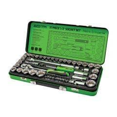 SUPATOOL 57 Pcs 1/2in Drive - Metric & Imperial Socket Set STP2057