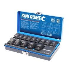 KINCROME 14 Piece 1/2 Inch Imperial Drive Impact Socket Set K28202