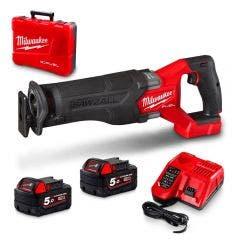 MILWAUKEE 18V FUEL™ SAWZALL™ 2 x 5.0Ah Reciprocating Saw Kit M18CSX2-502C