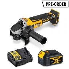 DEWALT 18V XR Brushless 125mm 1 x 4.0AH Angle Grinder Kit DCZ400M1-XE
