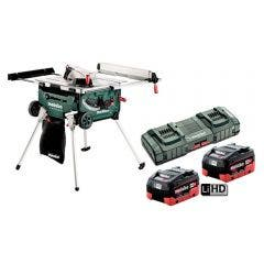 METABO18V Brushless 2 x 5.5Ah 254mm Saw Table Kit AU61302500