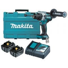 MAKITA 18V Brushless 13mm 2 x 5.0Ah Hammer Drive Drill Kit DHP486RTE