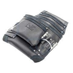 OX Trade Black Leather 10 Pocket Tool Pouch OX-T265603