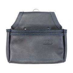 OX Trade Black Leather 2 Pocket Nail Bag OX-T265604