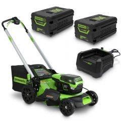 GREENWORKS 60V 2 x 4.0Ah 510mm Lawn Mower Kit 2516507AU