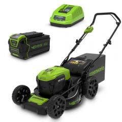 GREENWORKS 40V Brushless 1 x 4.0Ah Lawn Mower Kit 2510107AU-Kit