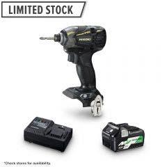 HiKOKI 36V Brushless 1 x 2.5Ah/5.0Ah Black & Gold Edition Impact Driver Kit WH36DB(BP1Z)