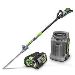 EGO POWER+ 56V 1 x 5.0Ah Commercial Telescopic Power Pole Plus Hedge Trimmer Attachment Kit PPTX5105