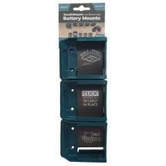 STEALTHMOUNTS Battery Mount Holder for Makita Blue 40V - 6 Pack BM-MK40-BLU-6