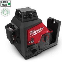 MILWAUKEE 12V 3 Plane Multiline Laser Level - Green Skin M123PLA-0C