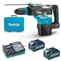 MAKITA 40V Max XGT Brushless 2 x 4.0Ah SDS Max Rotary Hammer Kit HR005GM201