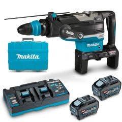 MAKITA 80V Max (40Vx2) XGT Brushless 2 x 5.0Ah SDS Max Rotary Hammer Kit HR006GT201