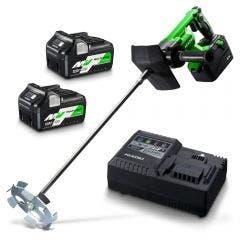 HiKOKI 36V 2 x 5.0Ah/2.5Ah Paddle Mixer Kit UM36DA(HRZ)