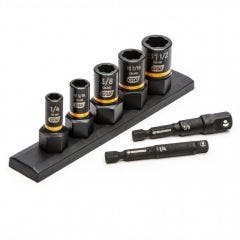 GEARWRENCH 1/4inch & 3/8inch Drive SAE Bolt Biter Impact Extraction Socket Set - 7 Piece 83911