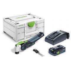FESTOOL 18V Brushless OSC VECTURO Starlock Oscillator Kit w. Systainer 577130