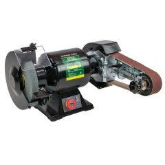 """ABBOTT & ASHBY 8"""" Dual Speed Bench Grinder w/ Aa362 Linishing Attachment AA362W8DS"""