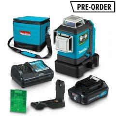 MAKITA 12V Max Green 3 x 360°Line Laser Kit SK700GDWA