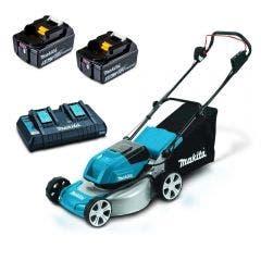 MAKITA 36V Brushless 2 x 5.0Ah 460mm Lawn Mower Kit DLM464PT2