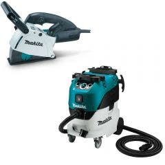 MAKITA 125mm Wall Chaser & M-Class Dust Extraction Combo Kit SG1251J-VC42MX2