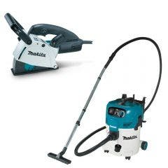MAKITA 125mm Wall Chaser & M-Class Dust Extraction Combo Kit SG1251J-VC30MX1