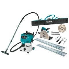 MAKITA 165mm Plunge Cut Circular Saw & M-Class Dust Extraction Combo Kit SP6000JT2X-VC30MX1