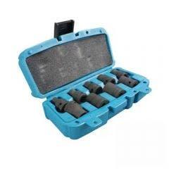 MAKITA Impact Socket Set 9 Piece SAE - 1/2inch Square Drive (No Pins Or O-Rings) T-01208