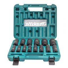 MAKITA 1/2inch Square Drive Metric Deep Impact Socket Set - 14 Piece B-52308