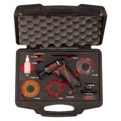 "M7 2""/3"" 1800rpm Air Mini High Speed Sander Pistol Style 11 Piece Kit M7-QP212N"