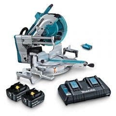 MAKITA 18Vx2 Brushless AWS 2 x 5.0Ah 305mm Slide Compound Saw Kit DLS211PT2U
