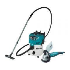 MAKITA 1400W 125mm Concrete Grinder Kit & 30L Wet/Dry Vacuum PC5000CVC30M