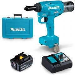 MAKITA 18V Brushless 4.8mm 1 x 5.0Ah Rivet Gun Kit DRV150RT