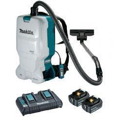 MAKITA 18V Brushless 2 x 5.0Ah Backpack Vacuum Kit DVC660T2X1