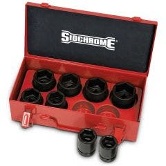 SIDCHROME 8pc 21mm-41mm 3/4inch Drive Metric Impact Socket Set XS608M