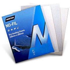 NORTON 230 x 280mm 320-Grit No-Fil Sandpaper Sheet for Paint - ADALOX