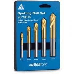 SUTTON 6-16mm HSS-Cobalt-TiN Spotting Drill Set - 5 Piece