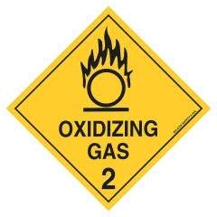 WILCOX SAFETY 270mm x 270mm Oxidizing Gas 2 Diamond Hazchem Sign - Poly 2.4HLP