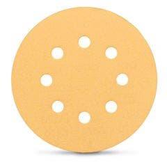 BOSCH 125mm 80-Grit 8-Hole Hook & Loop Sanding Disc for Wood & Paint - C470 - 5 Piece