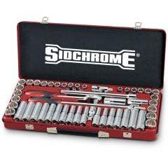 SIDCHROME 51 Piece 1/2inch Combo Socket Set SCMT14130